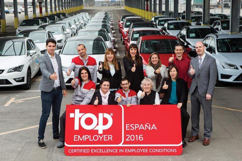 SEAT recibe el certificado Top Employer por segundo año consecutivo