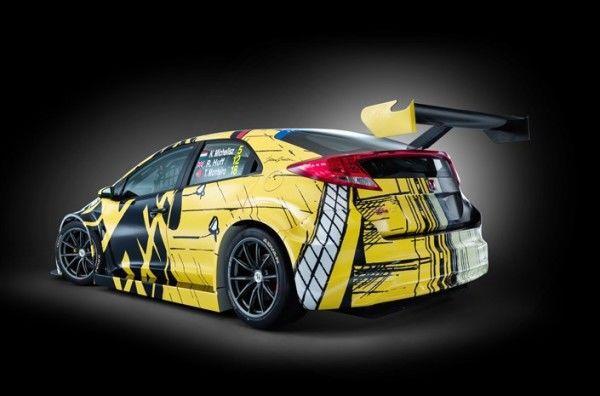 Nueva imagen del Honda Civic WTCC en el Festival de Goodwood