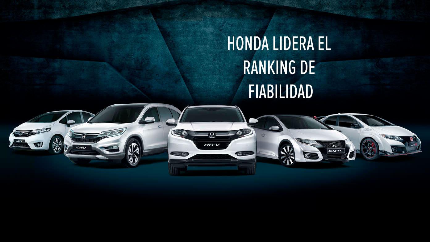 HONDA LIDERA EL RANKING DE FIABILIDAD