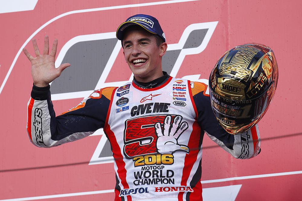Marc Márquez ya es tricampeón del mundo de MotoGP