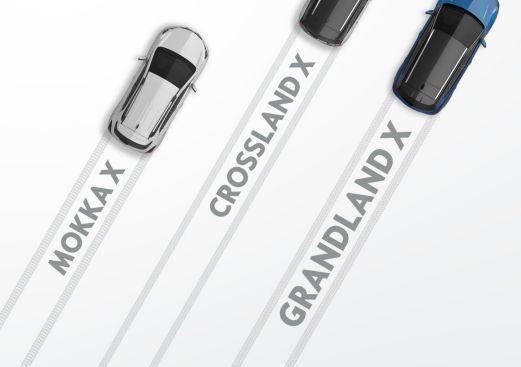 El Opel Grandland X se une al MOKKA X y al Crossland X.