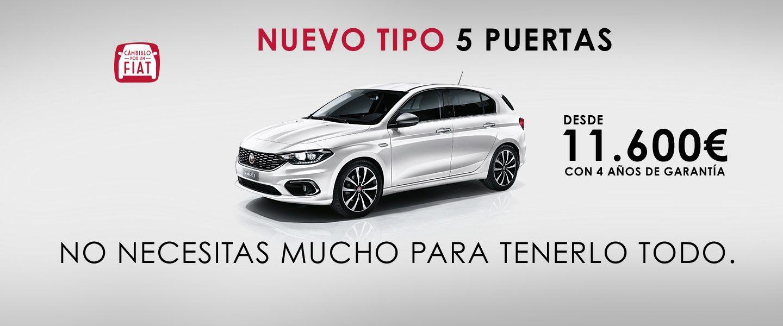 FIAT TIPO 5 PUERTAS EN TU CONCESIONARIO