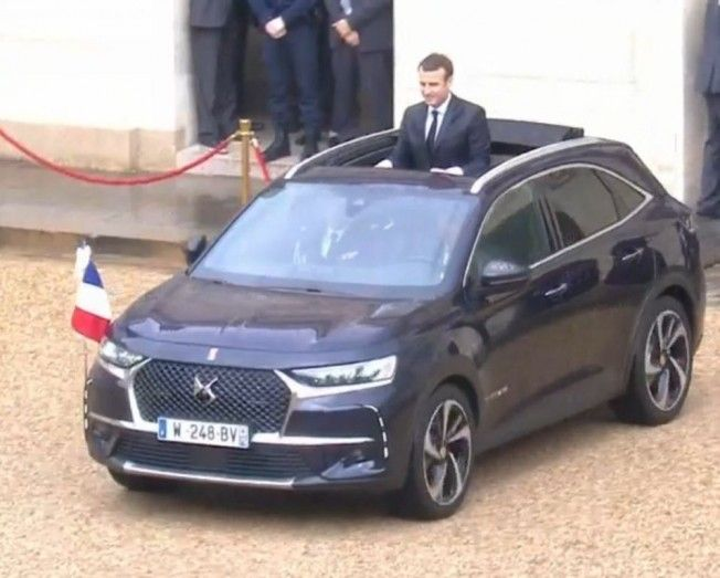 Un especial DS 7 Crossback Cabrio es el nuevo coche presidencial francés