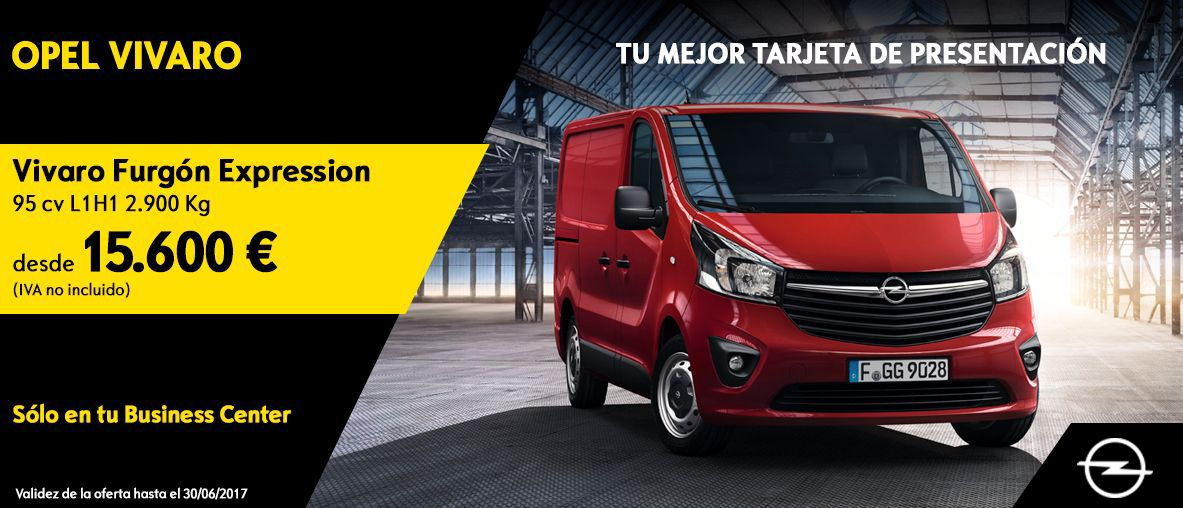 OPEL VIVARO FURGÓN EXPRESSION DESDE 15.600€