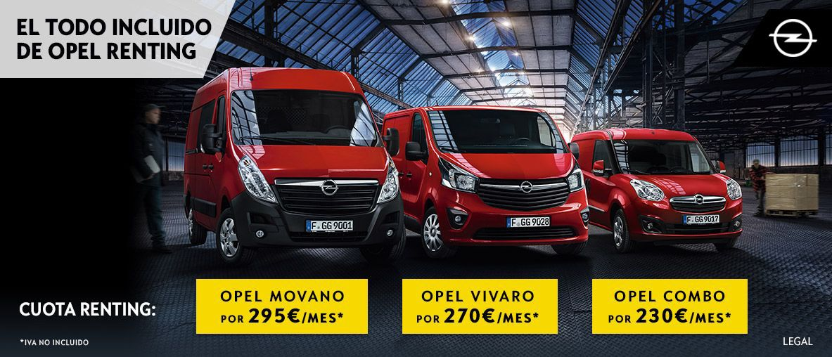 Gama Opel de vehículos comerciales Business Center