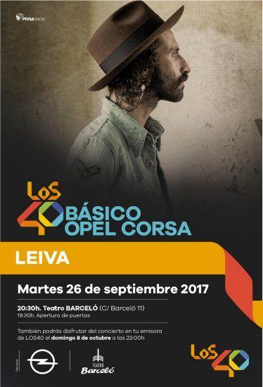 Leiva próximo artista en directo de Los 40Básico Opel Corsa