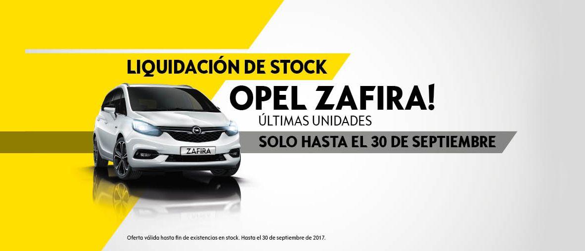 Liquidación de stock Opel Zafira últimas unidades