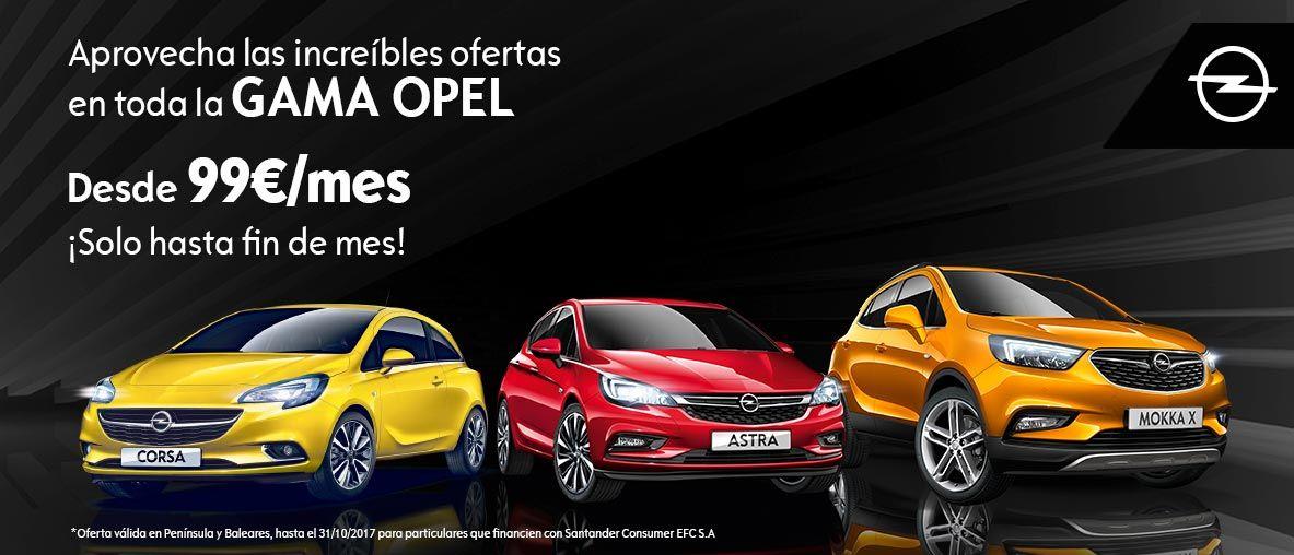 Ofertas en gama Opel , desde 99€/mes
