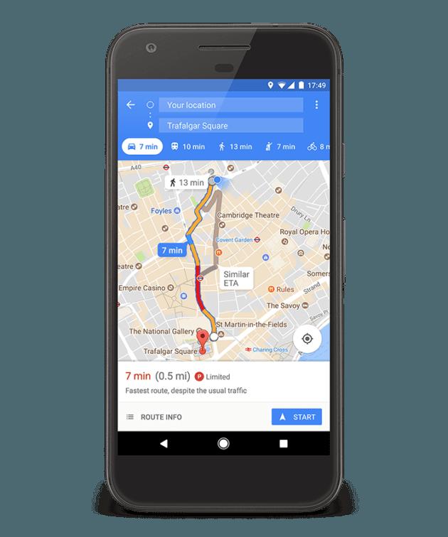 ¿Es fácil encontrar aparcamiento? Ahora Google Maps te lo dice