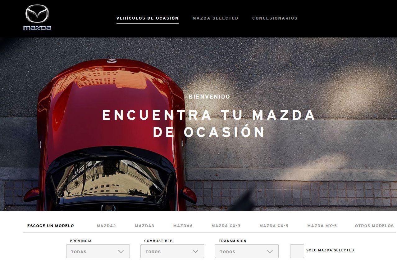 MAZDA LANZA SU NUEVA WEB DE VEHÍCULOS DE OCASIÓN