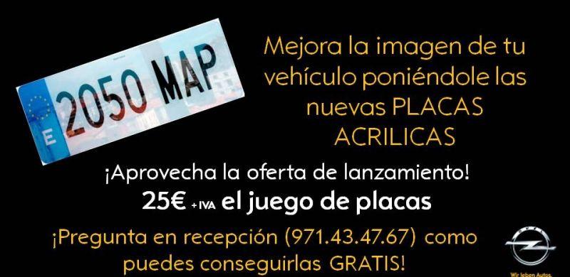 LANZAMIENTO PLACAS DE MATRICULA ACRILICAS