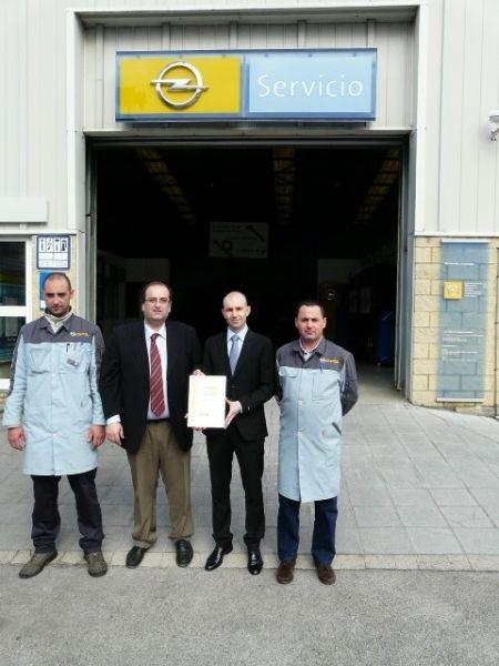 Opel Germotor recibe el Certificado de Calidad en Servicio de Taller