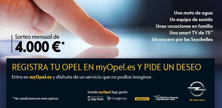 Registra tu Opel en MyOpel y pide un deseo