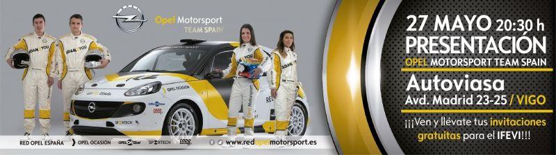 Presentación equipo Red Opel Motorsport