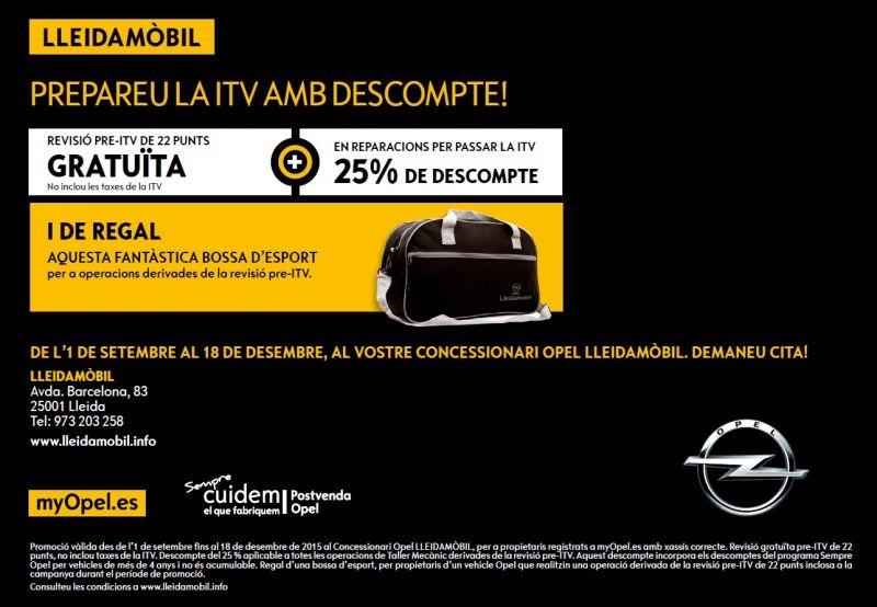 Prepara la ITV de tu vehiculo con Lleidamobil.