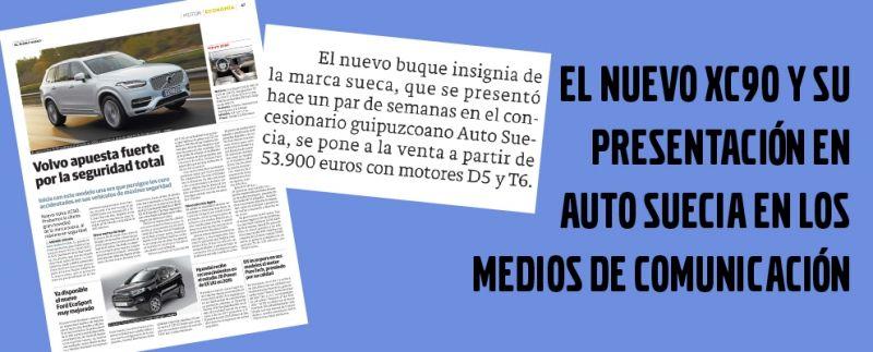 EL NUEVO XC90 Y SU PRESENTACIÓN EN AUTO SUECIA EN LOS MEDIOS DE COMUNICACIÓNe