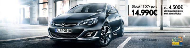 Opel Astra diesel 110 CV (14.990 € con 4.500 € de equipamiento tecnológico)
