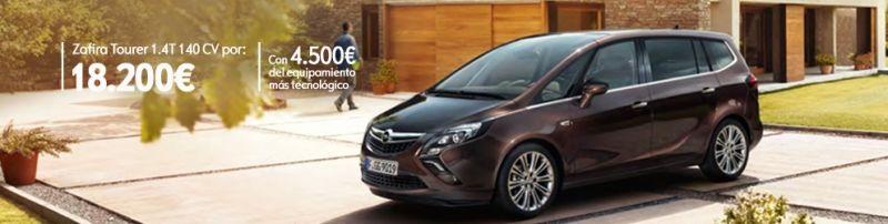 Opel Zafira Tourer 1.4T 140 cv S/S por 18.200€ Con 4.500€ del equipamiento más tecnológico.