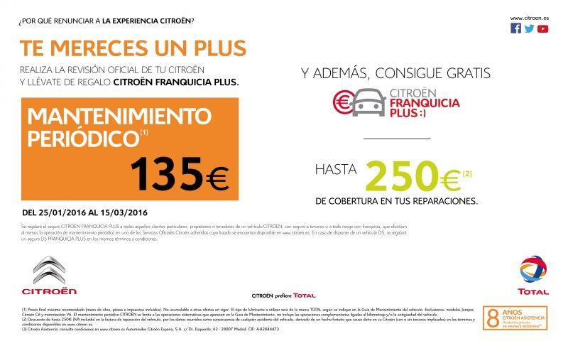 PRECIO CERRADO MANTENIMIENTO PERIÓDICO: 135€