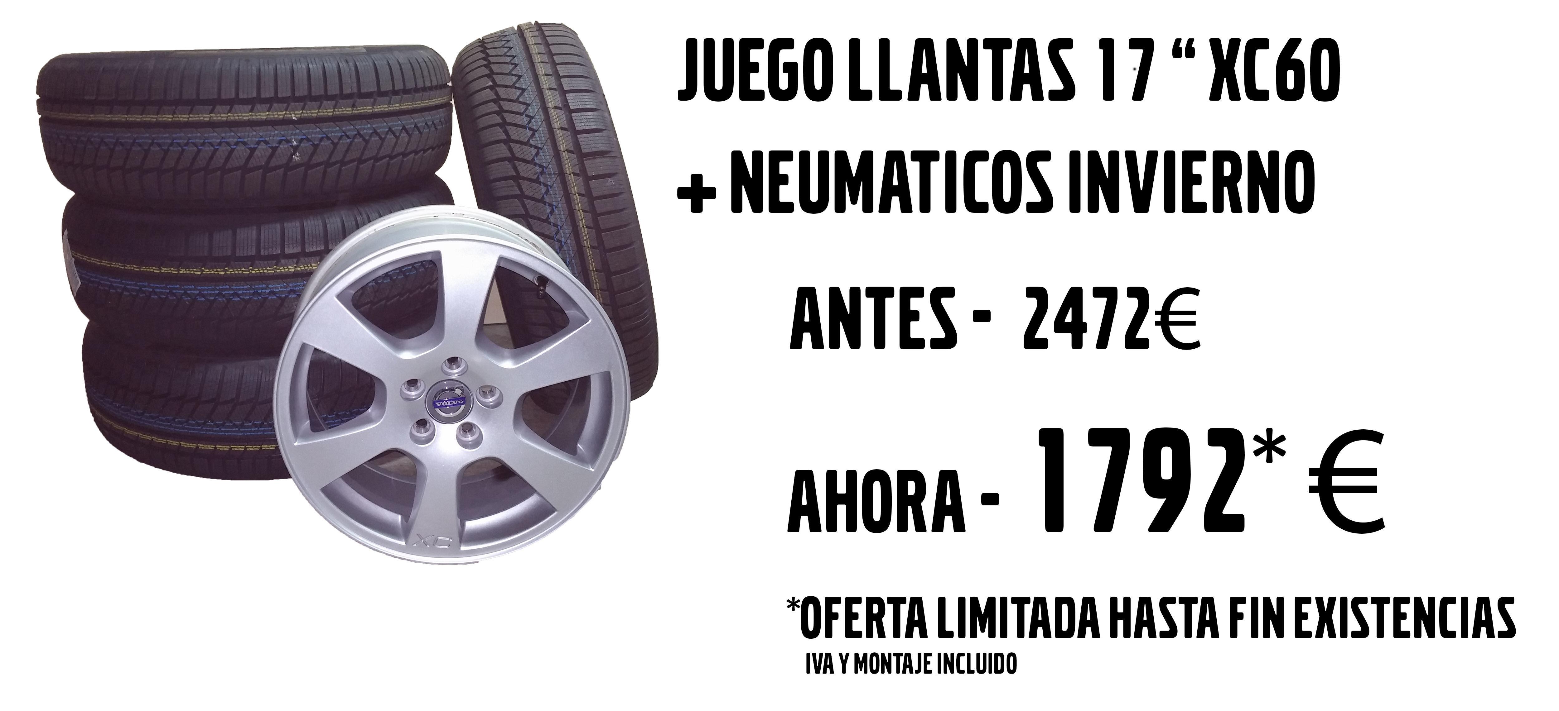 OFERTA CAMBIO DE LLANTAS Y NEUMÁTICOS DE INVIERNO XC60