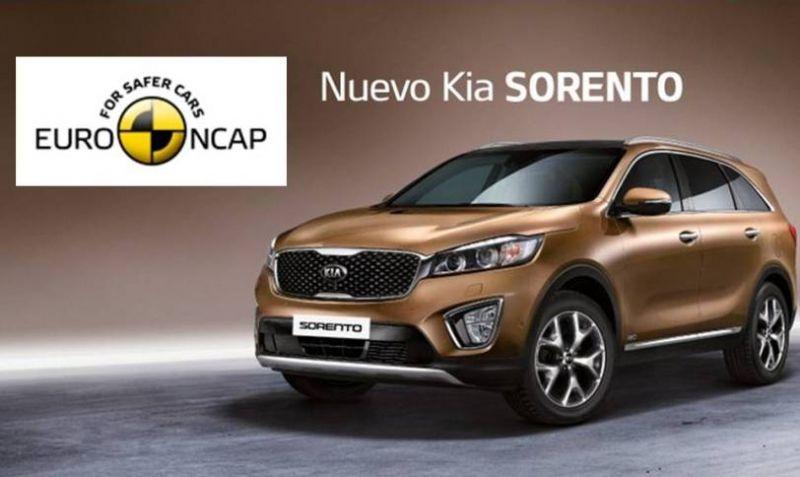 Cinco estrellas Euro NCAP para el Nuevo Kia Sorento