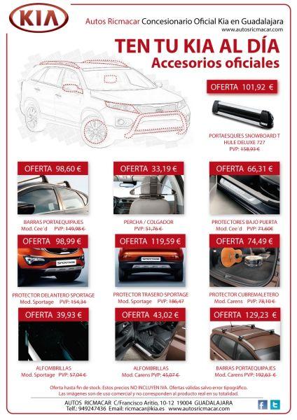OFERTA ESPECIAL DE ACCESORIOS OFICIALES KIA
