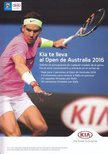KIA TE LLEVA AL OPEN DE AUSTRALIA 2016