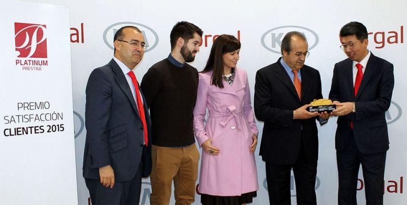 KIA galardona a Corgal Automóviles como el mejor concesionario en satisfacción al cliente