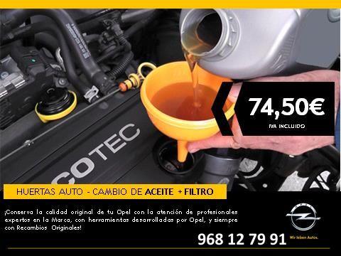 Cambio de ACEITE + FILTRO - 74,50€