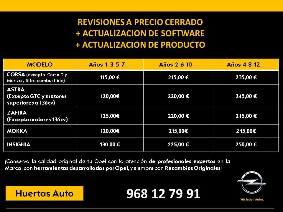 REVISIONES a PRECIO CERRADO + ACTUALIZACIÓN de SOFTWARE + ACTUALIZACIÓN de PRODUCTO
