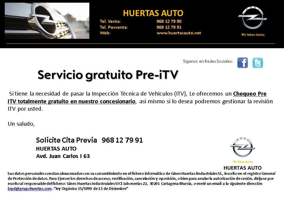 Servicio GRATUÍTO Pre-ITV