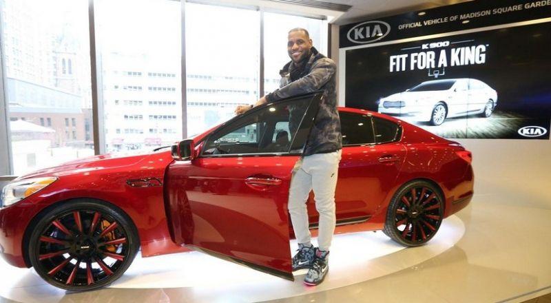 A subasta el Kia K900 King James Edition de LeBron James