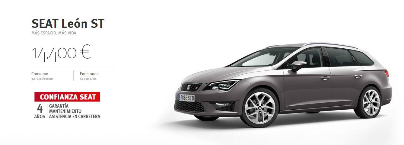 SEAT León ST desde 14.400€ MÁS ESPACIO. MÁS VIDA.
