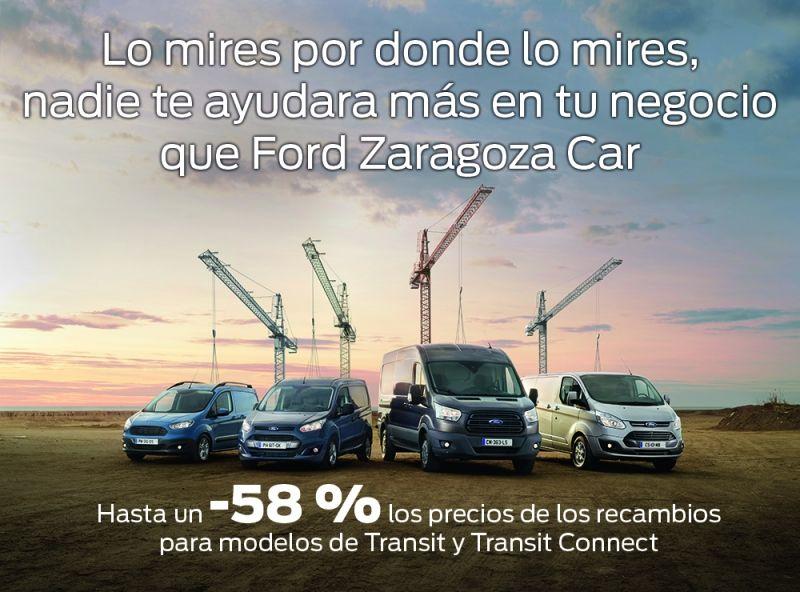 Hasta un -58 % los precios de los recambios para modelos de Transit y Transit Connect