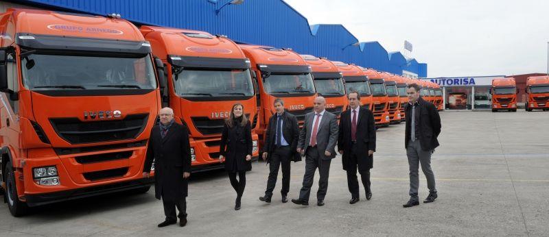 Autorisa entrega las 20 primeras unidades del Iveco Stralis Hi-Way Euro 6 en la Rioja