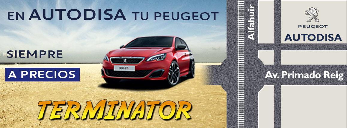 En Autodisa tu Peugeot siempre a precios Terminator