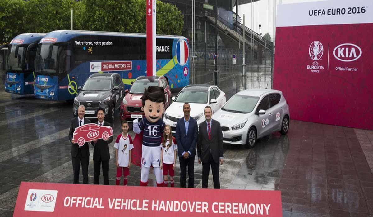 Kia proporcionará 447 vehículos para la Eurocopa 2016