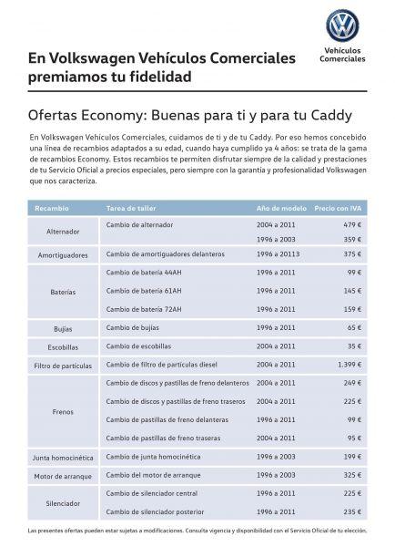 CADDY - OFERTAS ECONOMY