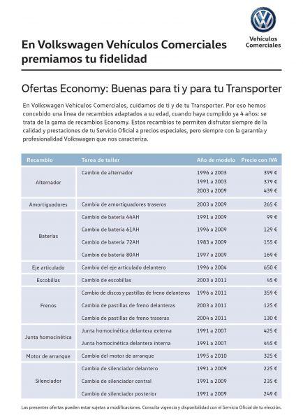 TRANSPORTER - OFERTAS ECONOMY