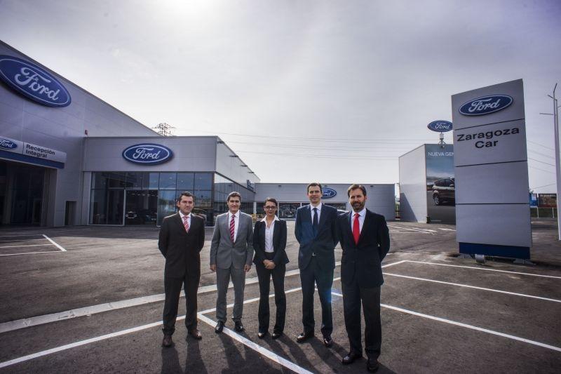 Los máximos Directivos de Ford Visitan Zaragoza Car