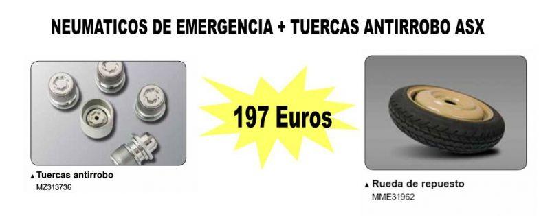 OFERTA ESPECIAL NEUMATICO DE EMERGENCIA + TUERCAS ANTIRROBO ASX