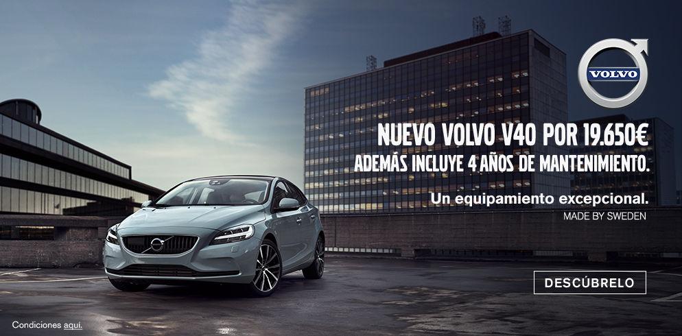 NUEVO VOLVO V40 CON 4 AÑOS DE MANTENIMIENTO POR 19.650€*