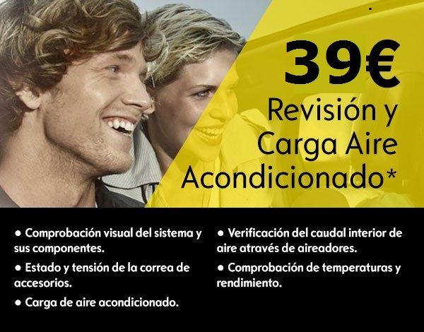 OFERTA REVISION + CARGA DE  AIRE ACONDICIONADO 39€