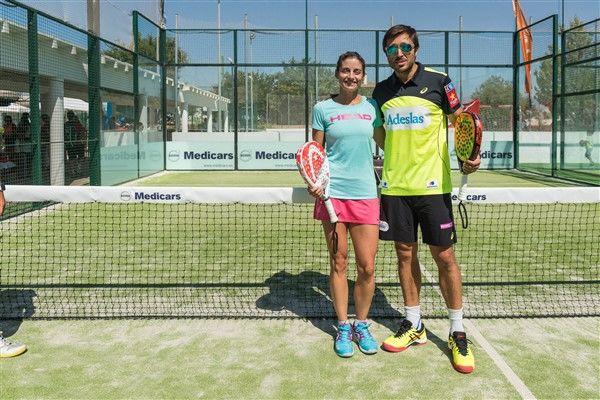 Volvo en torneo de Padel Sa Cabana con fernando Belasteguín y Alejandra Salazar