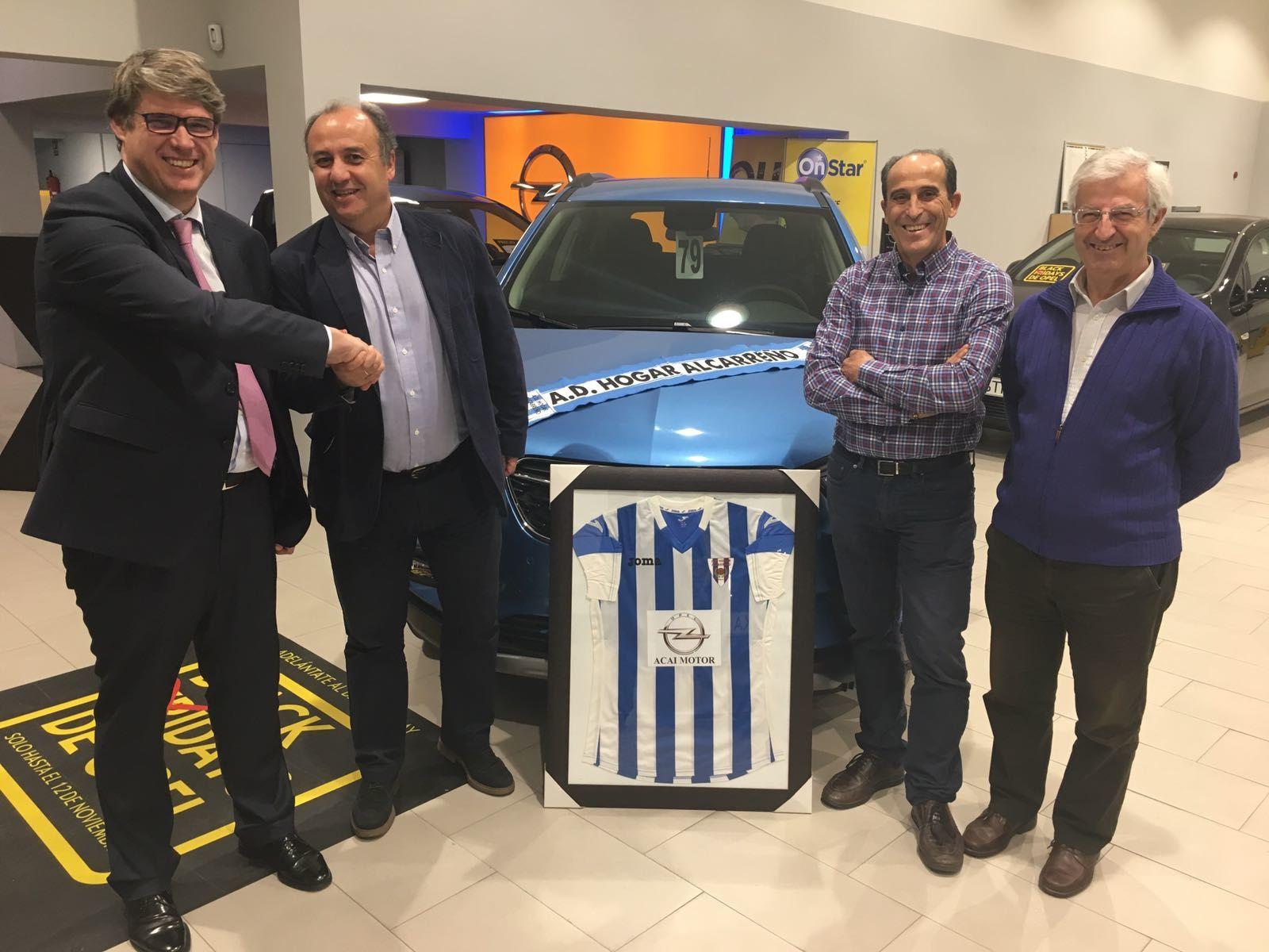 Cerrado el acuerdo de patrocinio entre ACAI MOTOR y la A.D. HOGAR ALCARREÑO