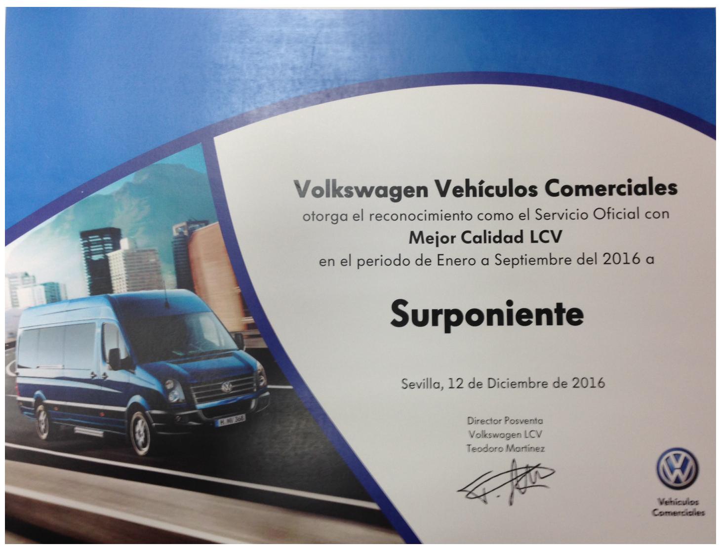 Surponiente Volkswagen Vehículos Comerciales en Almeria, SERVICIO OFICIAL con MEJOR CALIDAD.