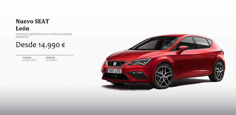 SEAT León 5 puertas desde 14.990 €