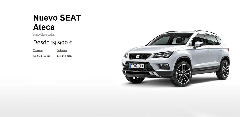 NUEVO SEAT ATECA DESDE 19.900 €