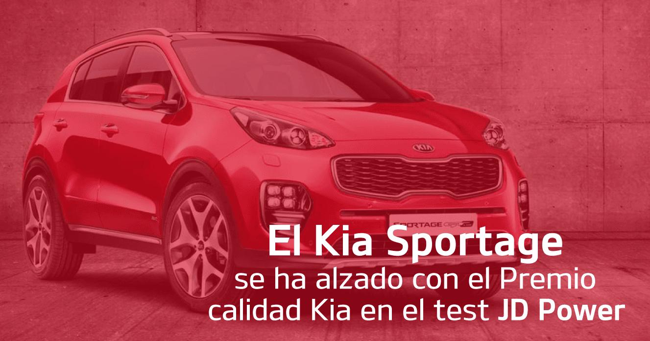 El Kia Sportage se ha alzado con el Premio calidad Kia en el test JD Power