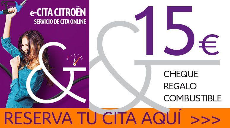 15 € EN CHEQUE COMBUSTIBLE, para los primeros 5.000 clientes. RESERVA AQUÍ TU e-CITA